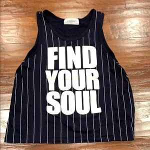 Soul cycle Find Your Soul pinstripe tank